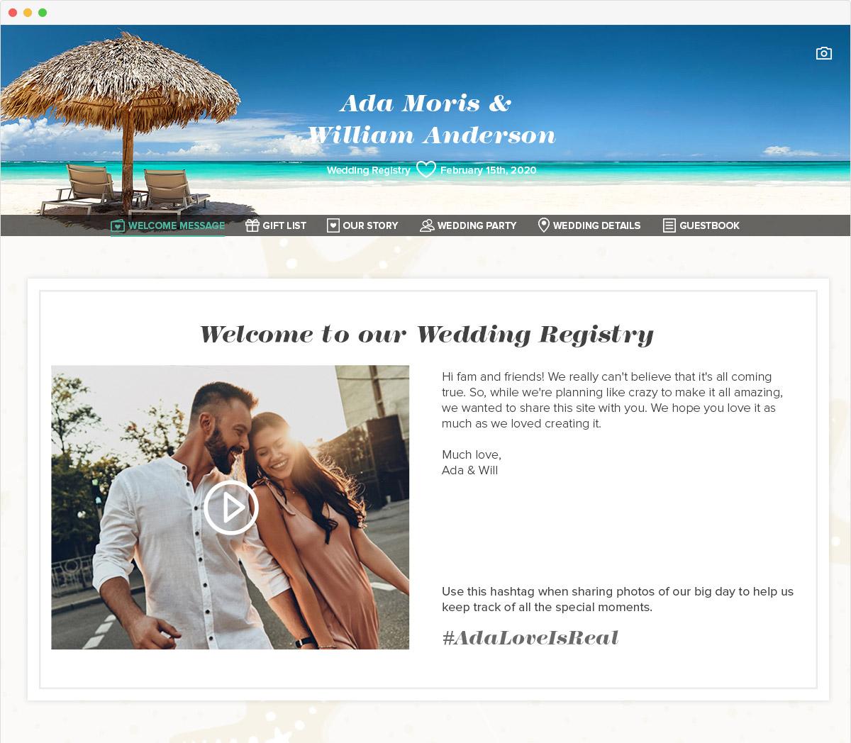 Wedding Registry Website.Create A Free Wedding Website Myregistry Com